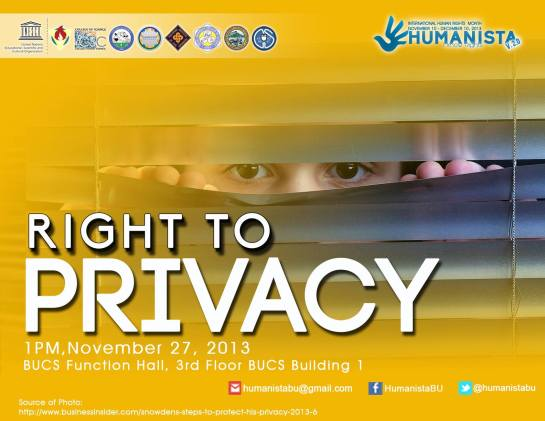 The right to privacy is a basic human right that safeguards the sacred circles of individuality. It creates a personal sanctuary where one could acknowledge his or her strength and weaknesses.