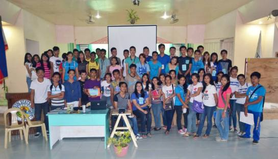 The first leg of the caravan gathered around 50 youth delegates from Sorsogon State College, Bulan, Sorsogon.