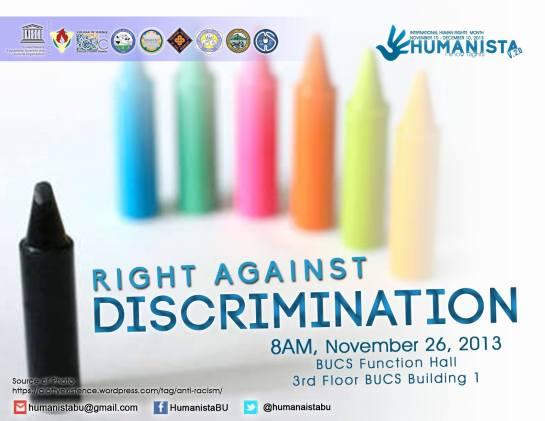 The freedom from discrimination is often within the perspective of bullying. However, people may be discriminated in a lot of creative ways, often unperceived.