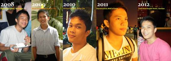 through the years haha