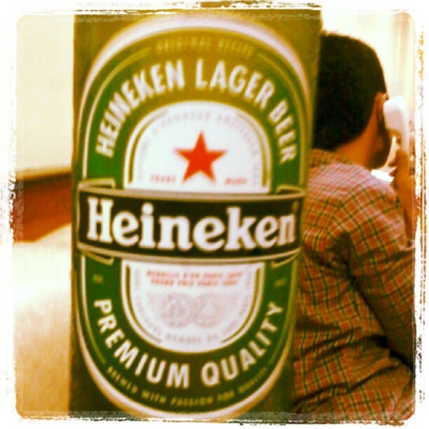 Heineken. haha purchased this at a local store and gave them to my students haha shhhhh