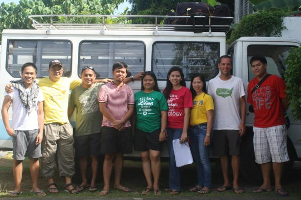 At Donsol, Sorsogon during our coastal resources rapid assessment with Greenpeace and a team of biologists