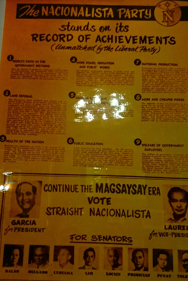 Campaign poster of Garcia when he ran against Ferdinand Marcos.