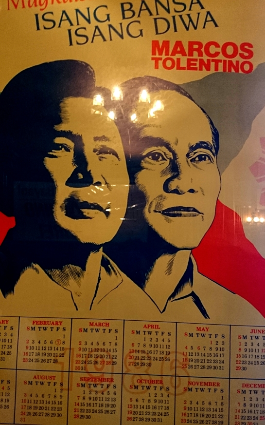 Old campaign poster of then President Marcos when he ran for President for the first time