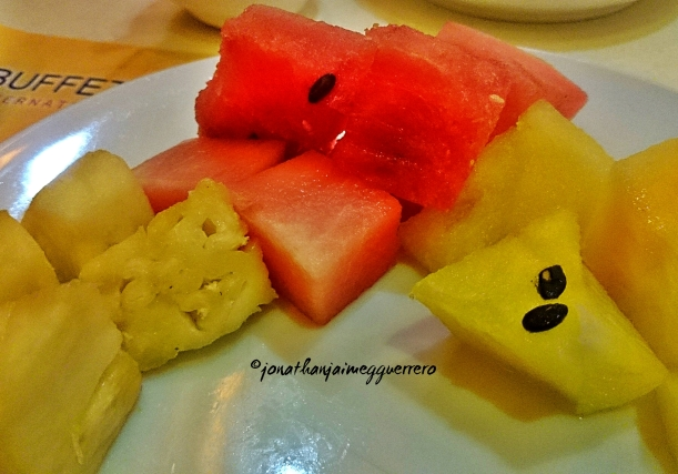 Don't leave an eat-all-you-can resto without eating fruits. =)