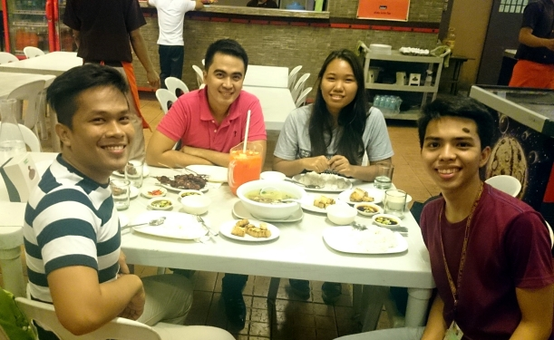 Good food is best eaten with great company =)
