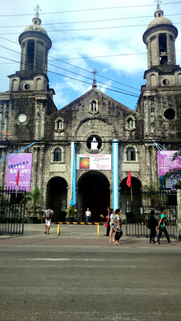 A coral-made church that dates back to the founding of the Bacolod parish.