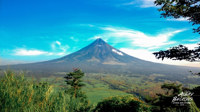 This view of Mayon Volcano is on top of Lignon Hill. Take that walk uphill early in the morning to avoid the heat.